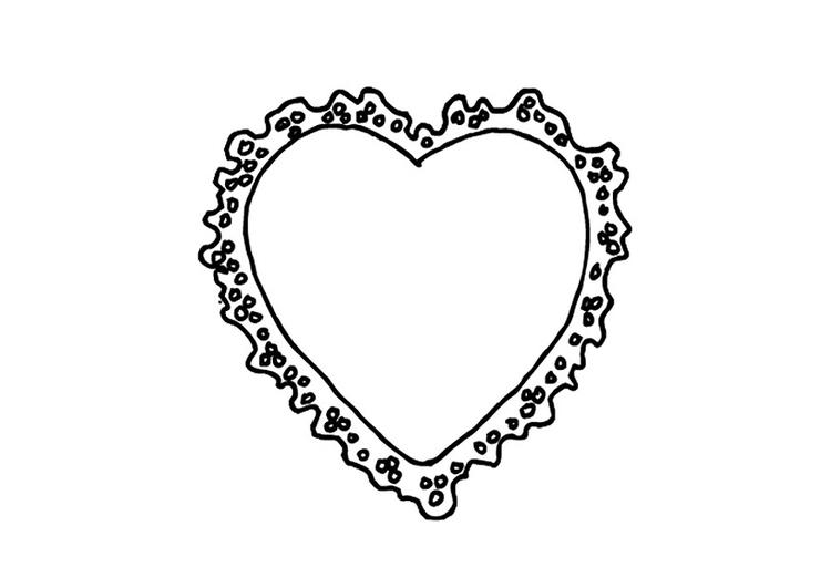Malvorlage Valentinsherz | Ausmalbild 9530.