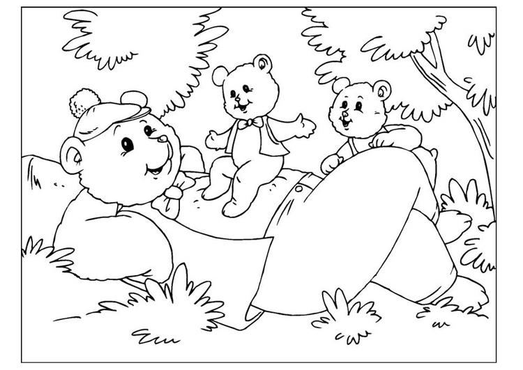 Malvorlage Vatertag - Bären | Ausmalbild 25893.