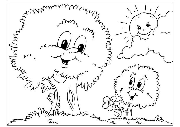Ausgezeichnet Malvorlagen Von Bäumen Ideen - Ideen färben - blsbooks.com