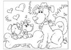 Malvorlage  Vatertag - Hunde