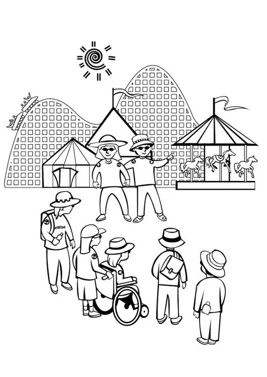 malvorlage vergnügungspark  kostenlose ausmalbilder zum