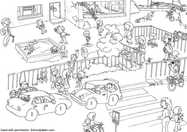 Malvorlage Verkehr An Der Schule Ausmalbild 11651