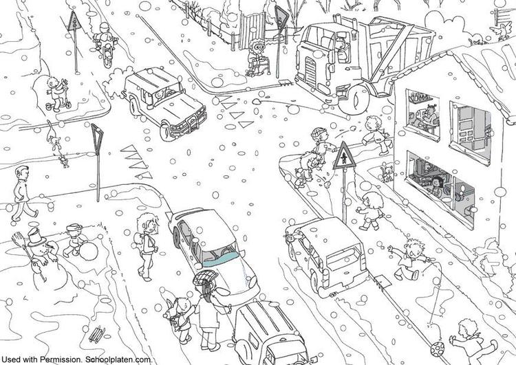 Malvorlage Verkehr Im Winter Ausmalbild 5370 Images