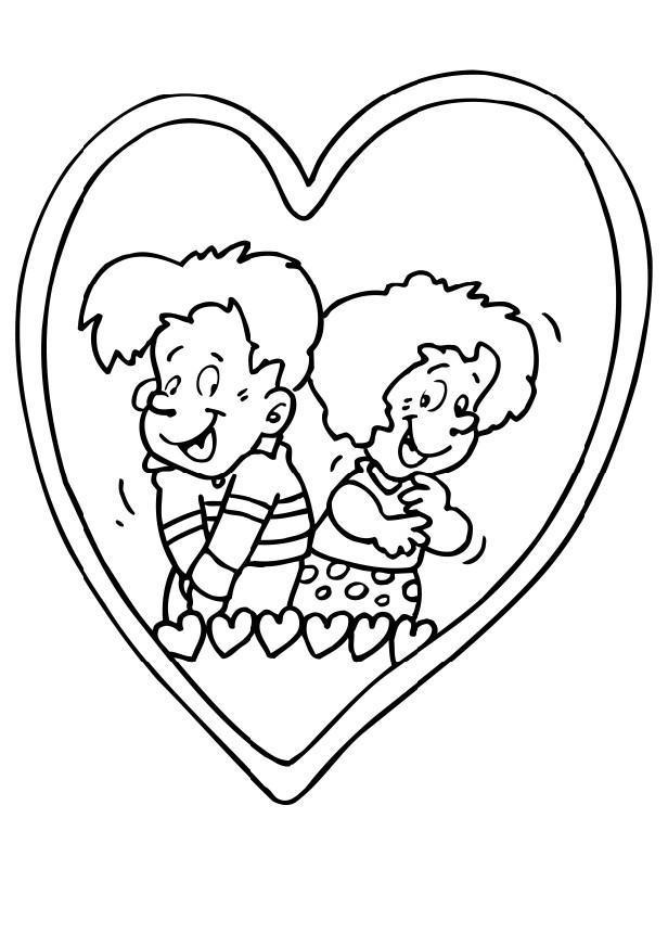 Kleurplaten Love Hartjes.Kleurplaten Love Hartjes Malvorlage Einfaches Herz Ausmalbild 20632