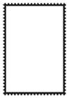Malvorlage  viereckige Briefmarke
