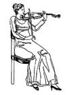 Malvorlage  Violinistin