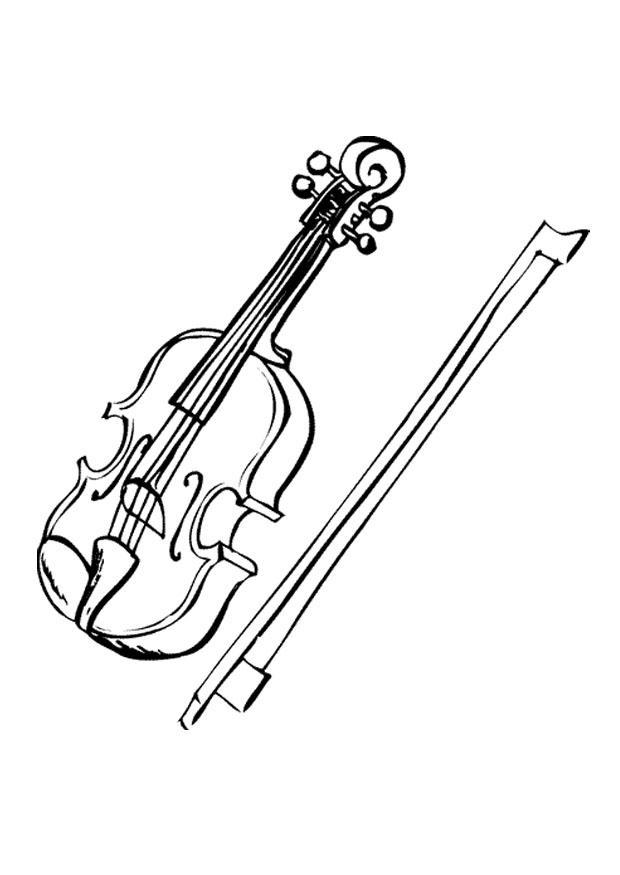 malvorlage violone  kostenlose ausmalbilder zum ausdrucken