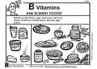 Malvorlage  Vitamin B Nahrung