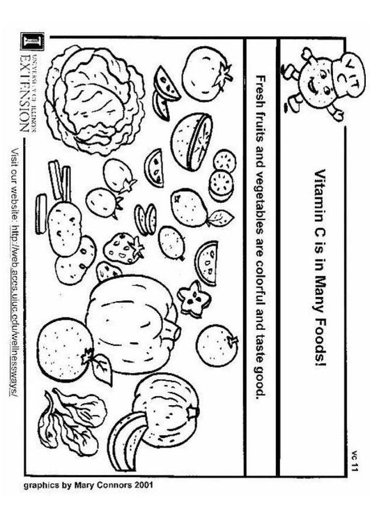 vitamin coloring pages - photo#2