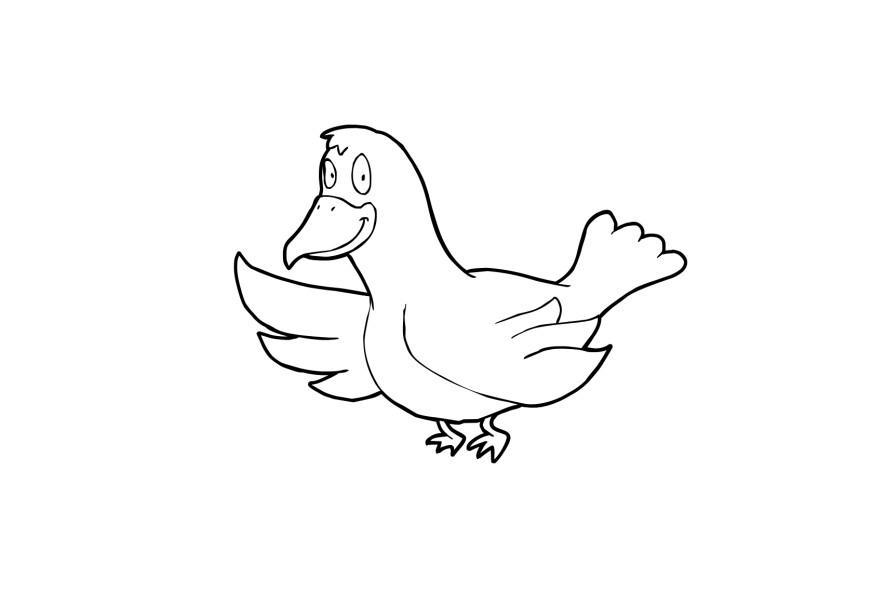 Malvorlage Vogel | Ausmalbild 13917.