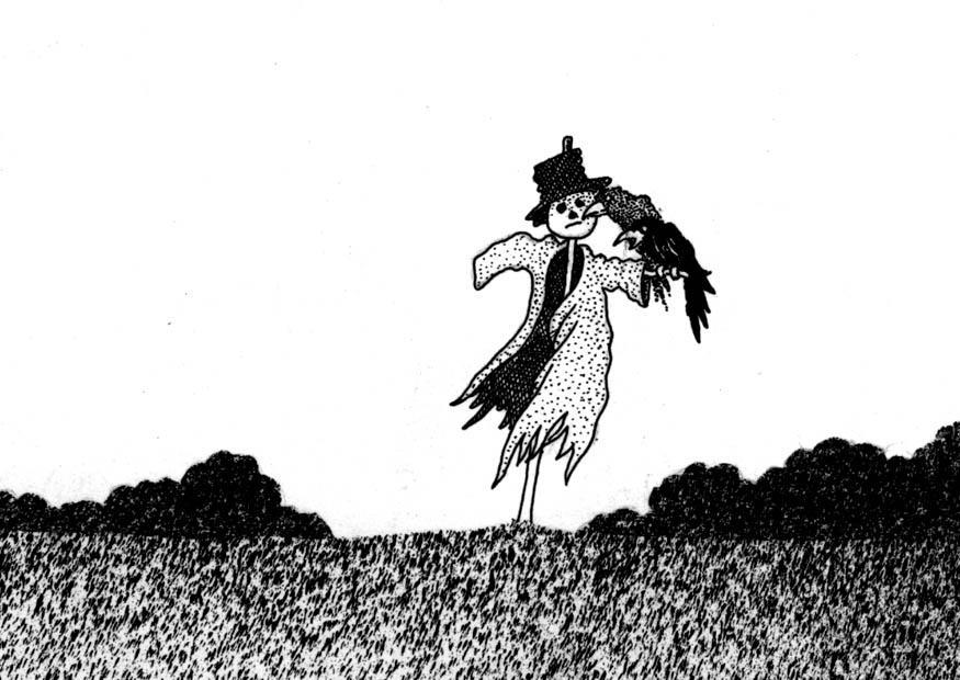 malvorlage vogelscheuche  ausmalbild 9408