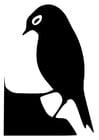 Malvorlage  Vogelsilhouette