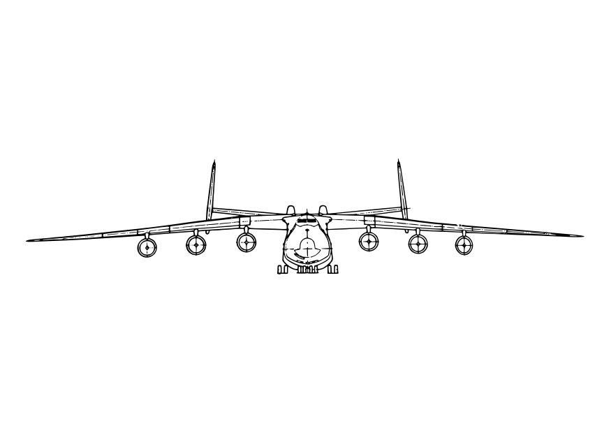 Klm Vliegtuig Kleurplaat Malvorlage 747 Flugzeug Ausmalbild 7521