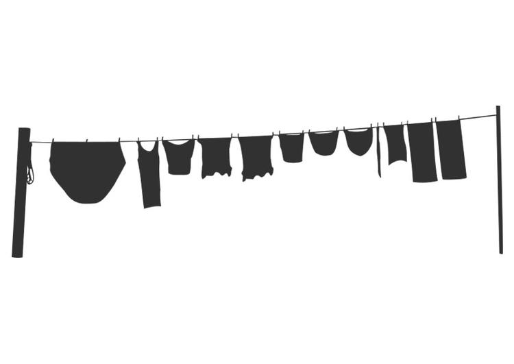 malvorlage wäscheleine  ausmalbild 22738