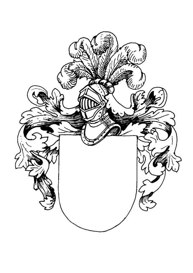 Malvorlage Wappen | Ausmalbild 9080.