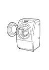 Malvorlage  Waschmaschine