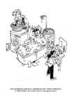 Malvorlage  Wassereinsparung