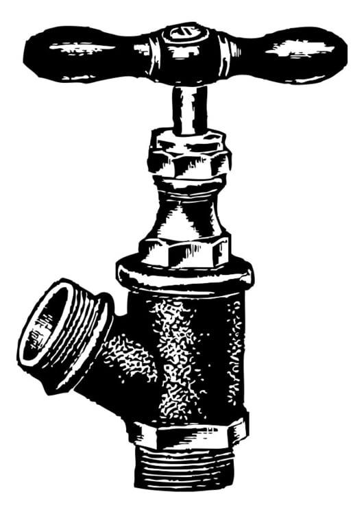 Malvorlage Wasserhahn  Ausmalbild 28349 ~ Wasserhahn Jrg