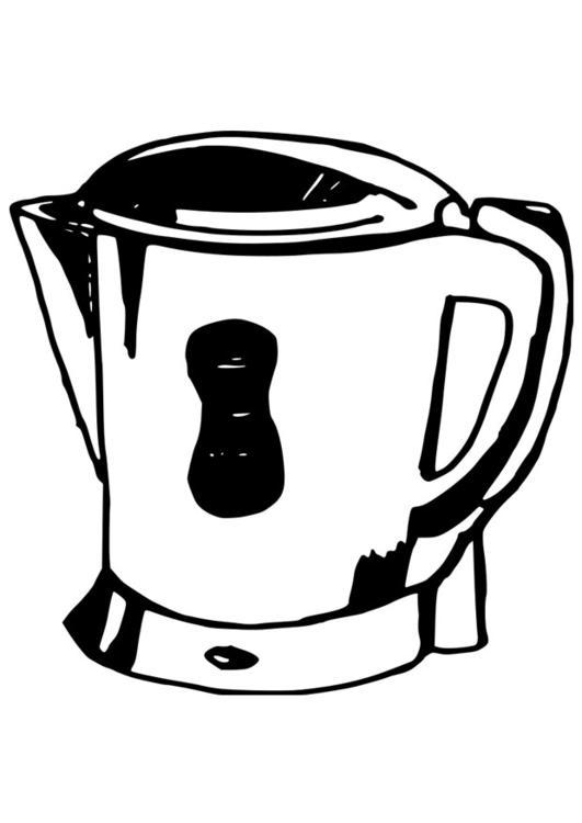 Malvorlage Wasserkocher  Ausmalbild 19080