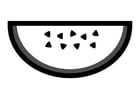 Malvorlage  Wassermelone