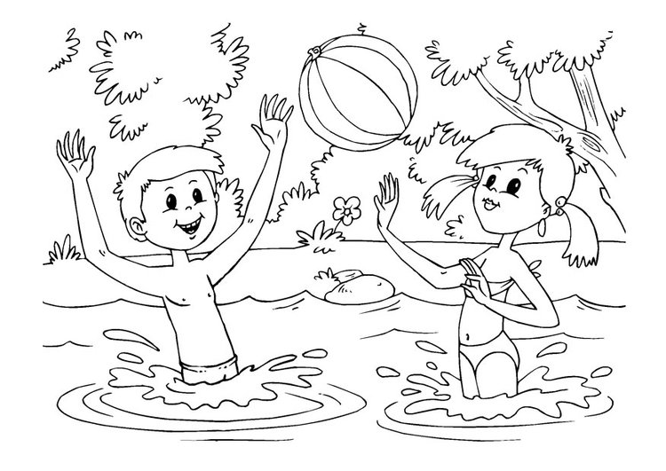 Urlaub malvorlage  Malvorlage Wasserspass | Ausmalbild 22614.