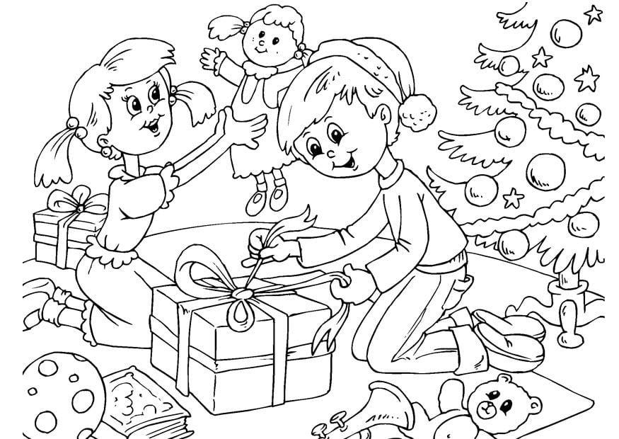 Kleurplaat Kerst Hert Malvorlage Weihnachten Ausmalbild 23058