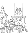 Malvorlage  Weihnachten feiern