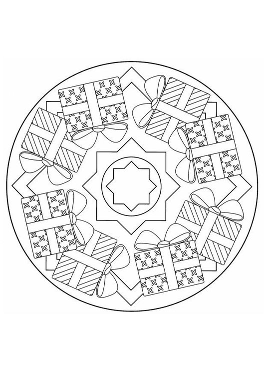 Malvorlage Weihnachten Mandala Ausmalbild 4403