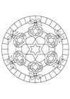 Malvorlage  Weihnachten Mandala