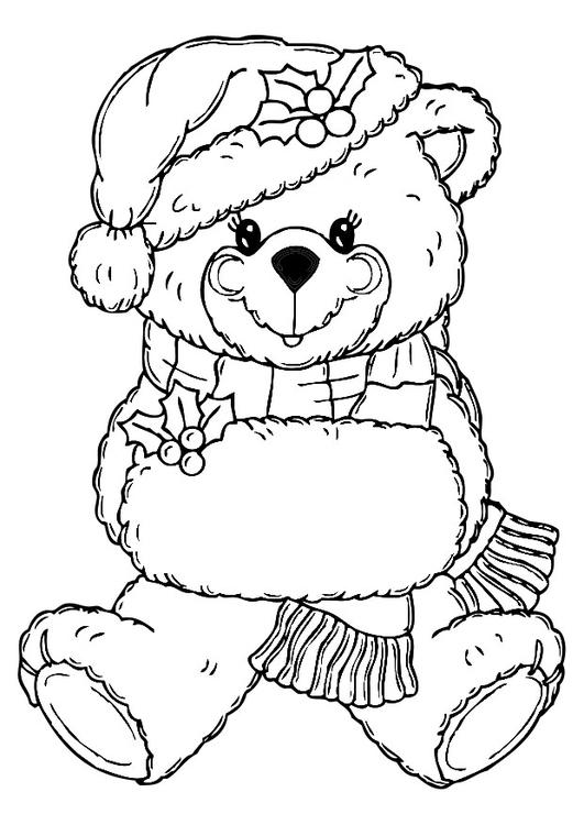 Malvorlage Weihnachtsbär Kostenlose Ausmalbilder Zum