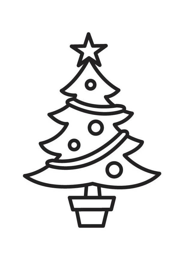 Malvorlage Weihnachtsbaum | Ausmalbild 18524.