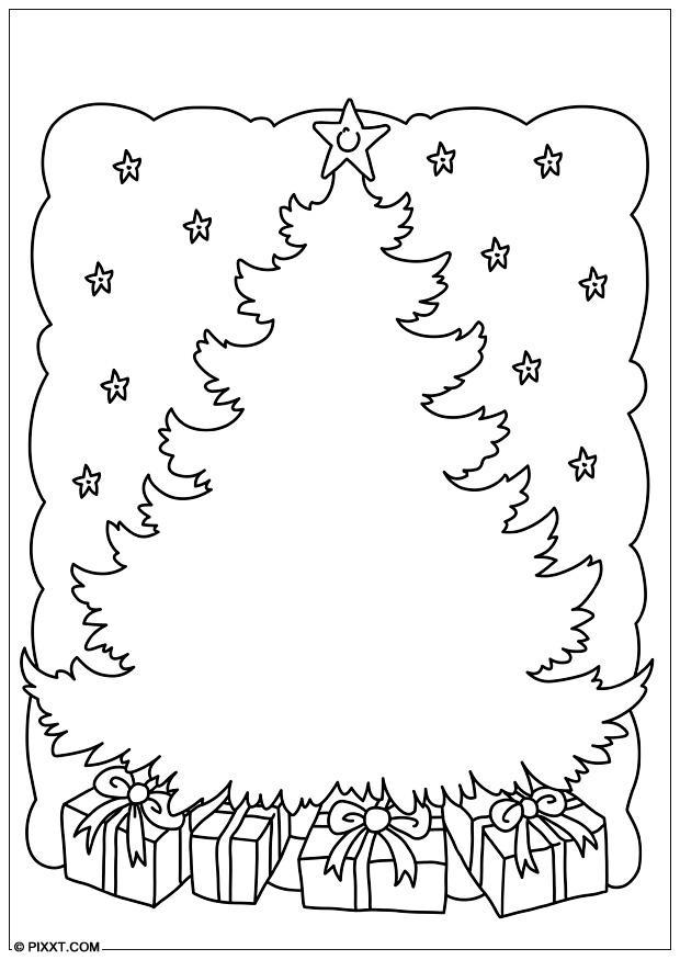 Malvorlage Weihnachtsbaum | Ausmalbild 28179.