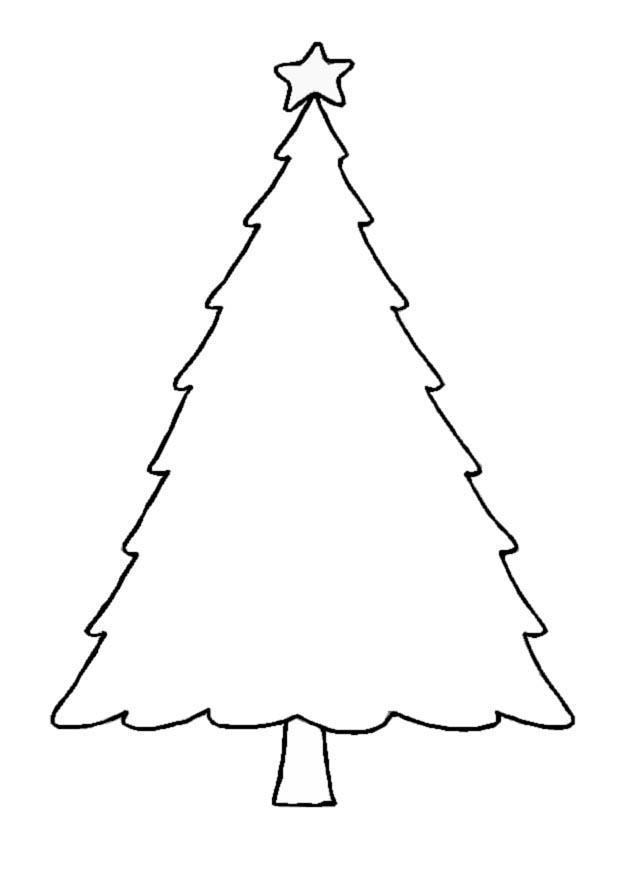 Malvorlage Weihnachtsbaum | Ausmalbild 8654.