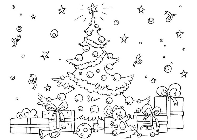 Malvorlage Weihnachtsbaum Ausmalbild 23061