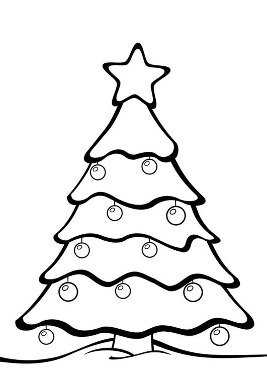 Malvorlage Weihnachtsbaum Ausmalbild 28163