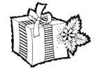 Malvorlage  Weihnachtsgeschenk