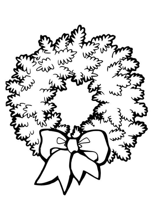 malvorlage weihnachtskranz  ausmalbild 28973