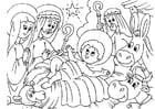 Malvorlage  Weihnachtskrippe