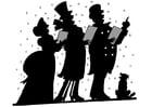 Malvorlage  Weihnachtslied