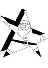 Malvorlage  Weihnachtsmann 1a