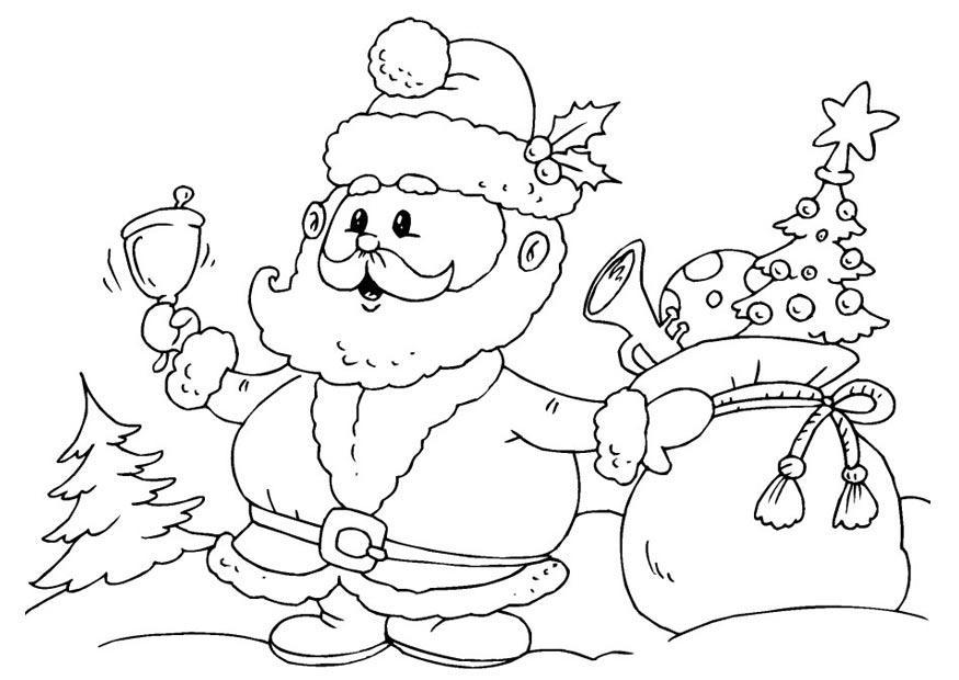 malvorlage weihnachtsmann | ausmalbild 23378.