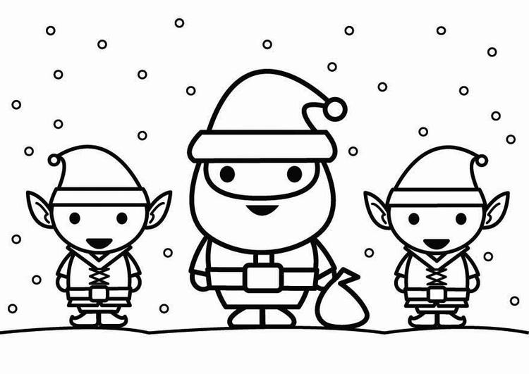 ausmalbild weihnachtsmann  cartoonbild