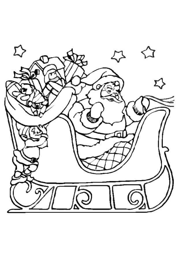 Malvorlage Weihnachtsschlitten | Ausmalbild 8645.