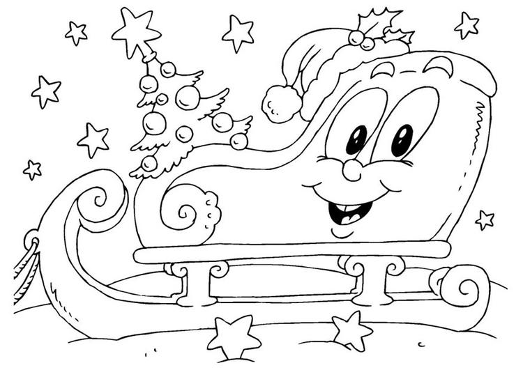 Madeheart Cuaderno De Dibujo Libreta Para Dibujar Hecho: Malvorlage Weihnachtsschlitten