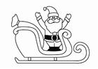 Malvorlage  Weihnachtsschlitten