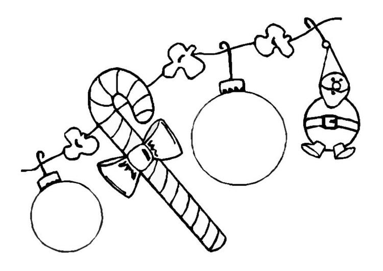 Malvorlage Weihnachtsschmuck | Ausmalbild 8646.