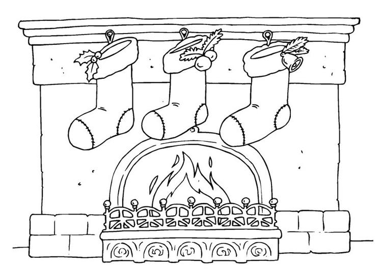 Malvorlage Weihnachtsstrumpf   Ausmalbild 23384.