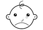 Malvorlage  weinen
