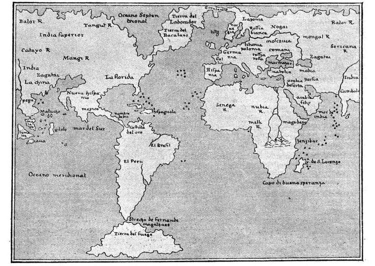 Malvorlage Weltkarte 1548 | Ausmalbild 15667.