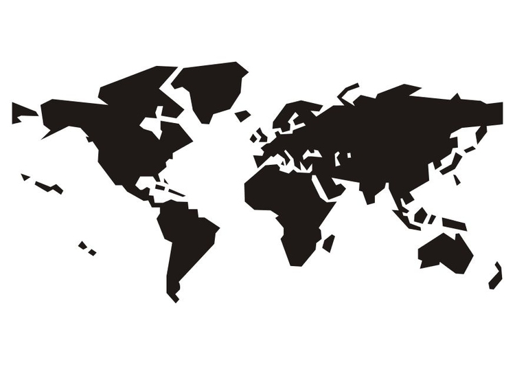 Malvorlage Weltkarte | Ausmalbild 15641.